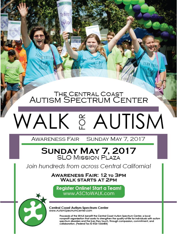 WALK for Autism - Awareness Fair and Walk @ Mission Plaza | San Luis Obispo | California | United States