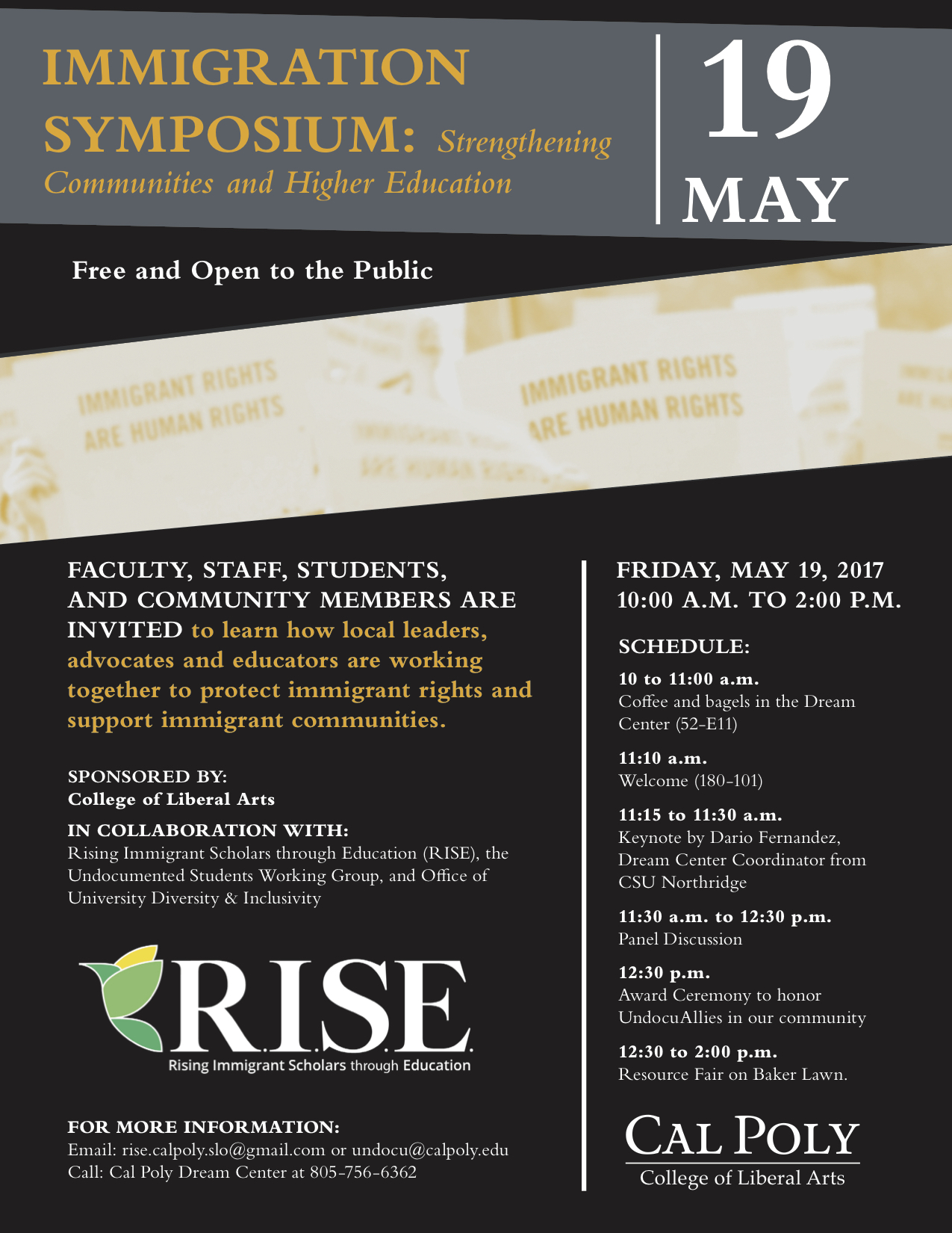 Immigration Symposium: Strengthening Communities and Higher Education @ Cal Poly | San Luis Obispo | California | United States
